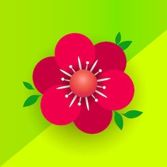 Flyer de bannière de célébration de vacances de mars ou carte de voeux avec fleur décorative