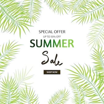 Flyer, bannière pour les soldes d'été.