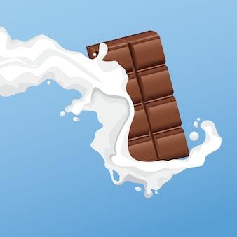 Flyer de barre de chocolat laiteux