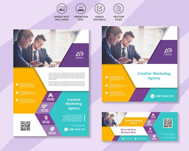 Flyer brochure modèle de médias sociaux et bannière pour les entreprises