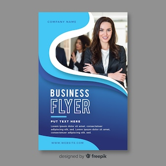 Flyer bussiness abstraite avec modèle de photo