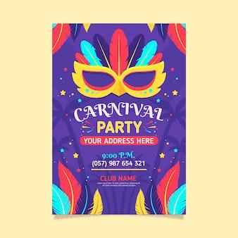 Flyer de carnaval brésilien coloré