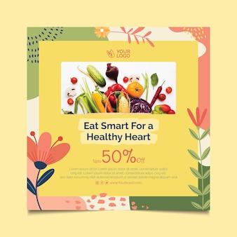 Flyer carré bio et alimentation saine