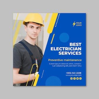 Flyer carré électricien