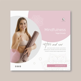 Flyer carré de méditation et de pleine conscience