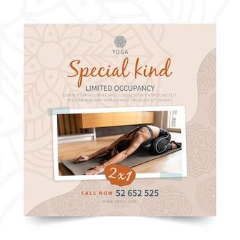 Flyer carré de méditation yoga