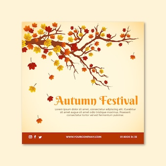 Flyer carré mi-automne