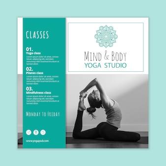 Flyer carré de pratique du yoga
