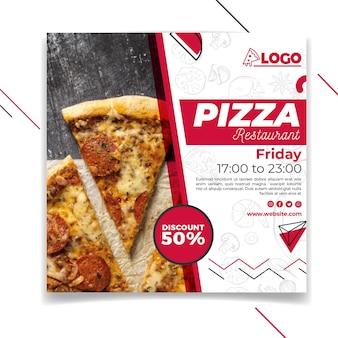 Flyer carré de restaurant de pizza