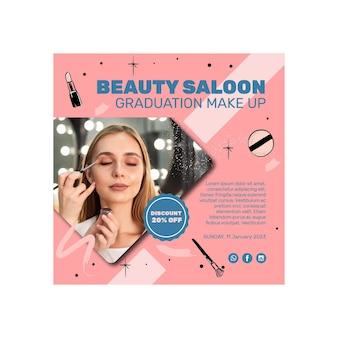 Flyer carré de salon de beauté