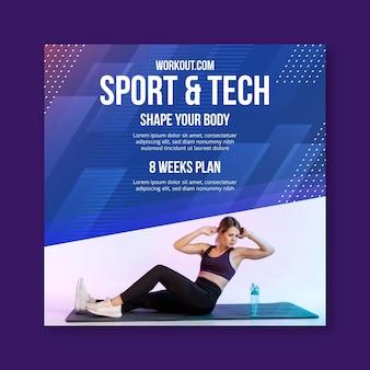 Flyer carré sport & tech