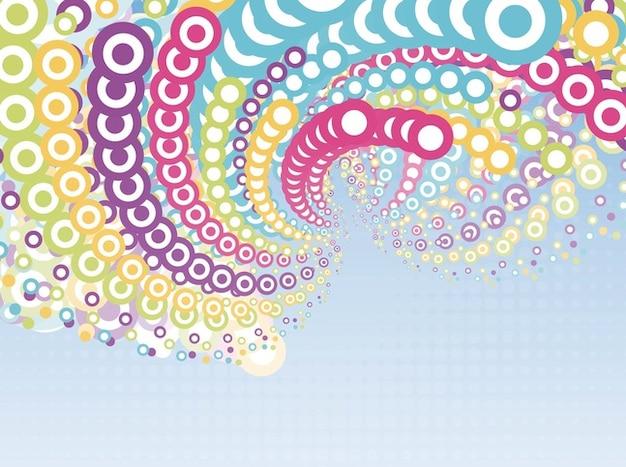Flyer cercle coloré composition fond