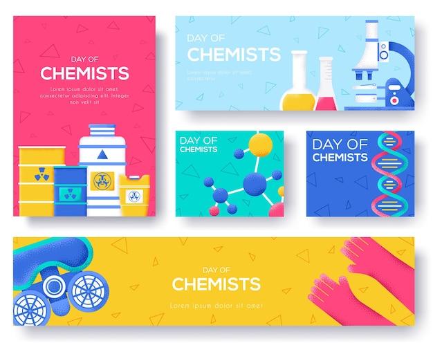 Flyer de chimistes biohazard, magazines, affiche, couverture de livre, bannières. fond de concept de cartes d'invitation. page de curseur moderne d'illustration de mise en page. texture de grain et effet de bruit.