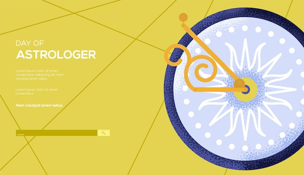 Flyer de concept de cadran solaire, bannière web, en-tête d'interface utilisateur, entrez dans le site. texture de grain et effet de bruit.