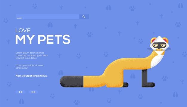 Flyer concept vison, bannière web, en-tête de l'interface utilisateur, entrez dans le site. .