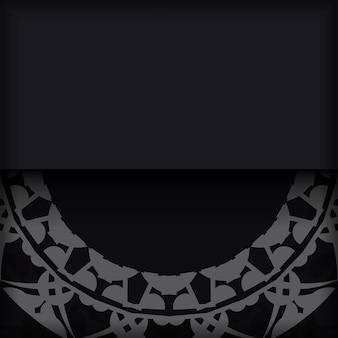 Flyer de couleur noire avec motif indien