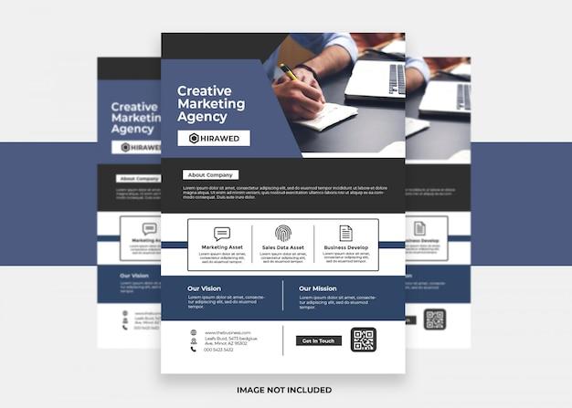 Flyer créatif design minimaliste moderne