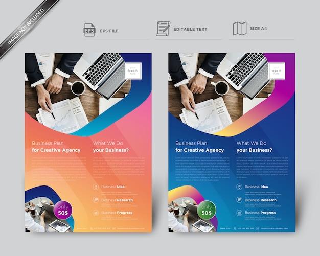 Flyer créatif pour modèle d'affaires