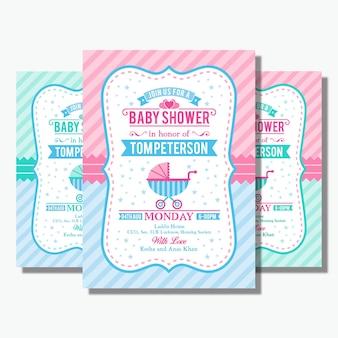 Flyer de douche de bébé
