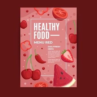 Flyer design nourriture saine