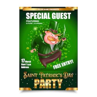 Flyer du jour de saint patrick