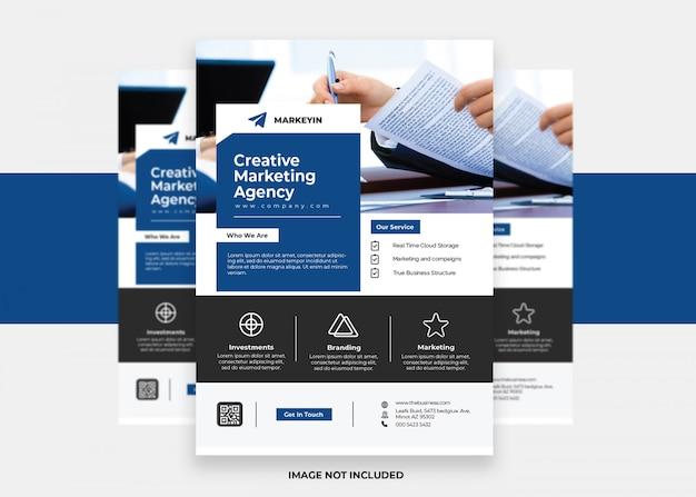 Flyer d'entreprise moderne d'entreprise créative