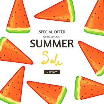 Flyer d'été de pastèque