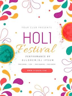 Flyer festival holi