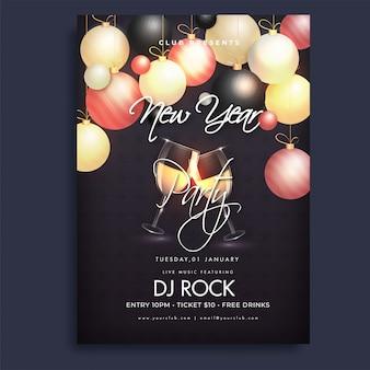 Flyer fête du nouvel an.