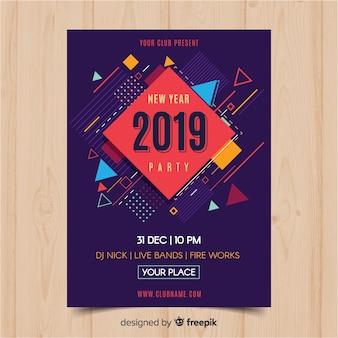 Flyer fête du nouvel an