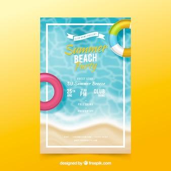 Flyer fête d'été dans un style réaliste