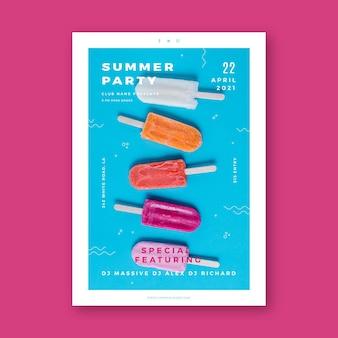 Flyer fête d'été avec photo
