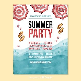 Flyer fête d'été