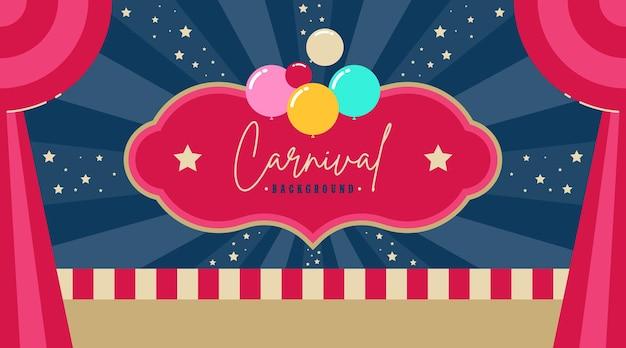 Flyer de fête foraine de carnaval et fond de bannière web
