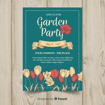 Flyer fête invitation jardin