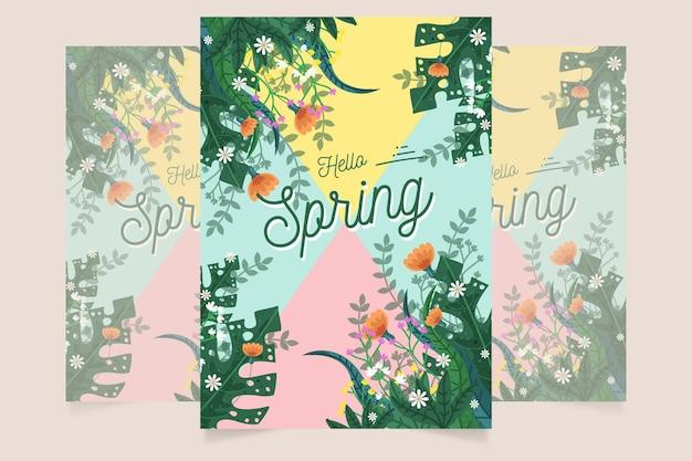 Flyer de fête de printemps dessiné à la main