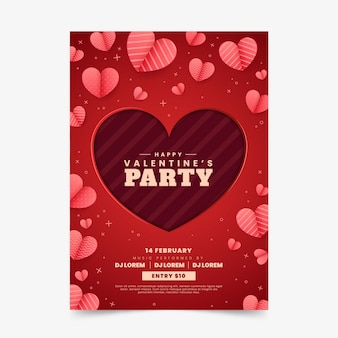 Flyer de fête de la saint-valentin