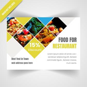 Flyer horizontal de nourriture pour le restaurant
