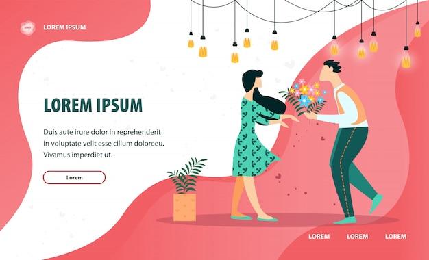 Flyer D'information Pour Petite Amie. Vecteur Premium
