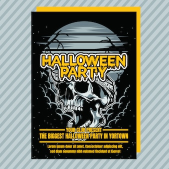 Flyer d'invitation à la fête d'halloween