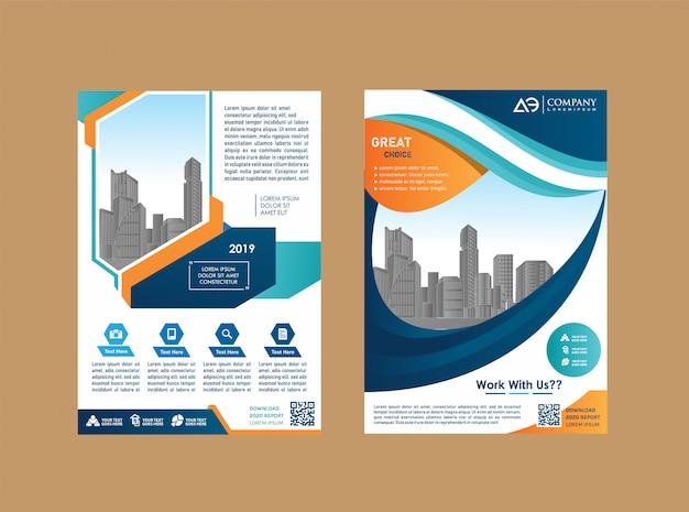 Flyer layout poster magazine rapport annuel livret de livre