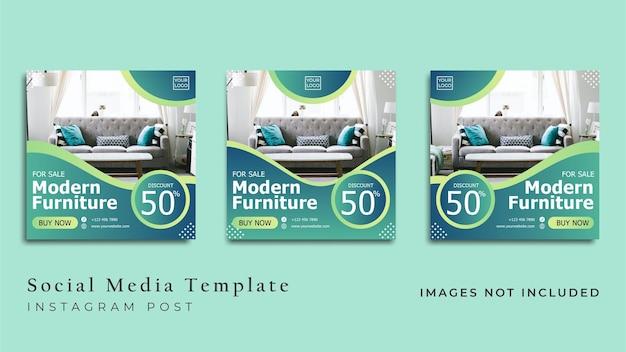 Flyer de meubles modernes ou bannière de médias sociaux vecteur premium
