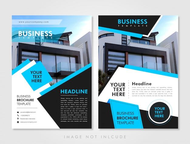 Flyer modèle d'affaires bleu