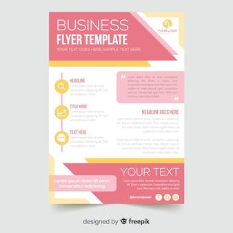 Flyer modèle d'affaires