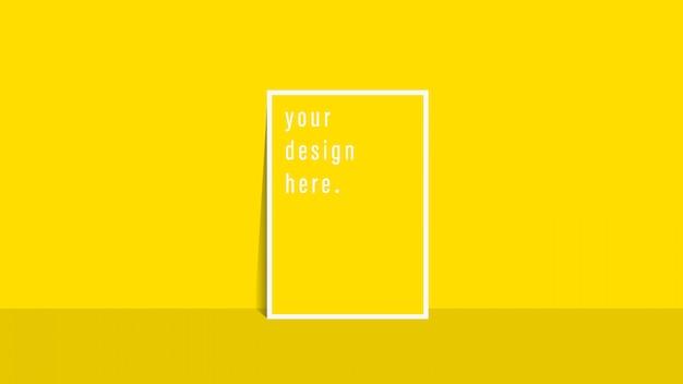 Flyer de modèle de brochure fond de couleur jaune simple pour la conception de l'entreprise