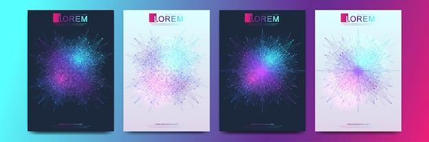 Flyer de modèle moderne, couverture, catalogue, magazine ou rapport annuel au format a4