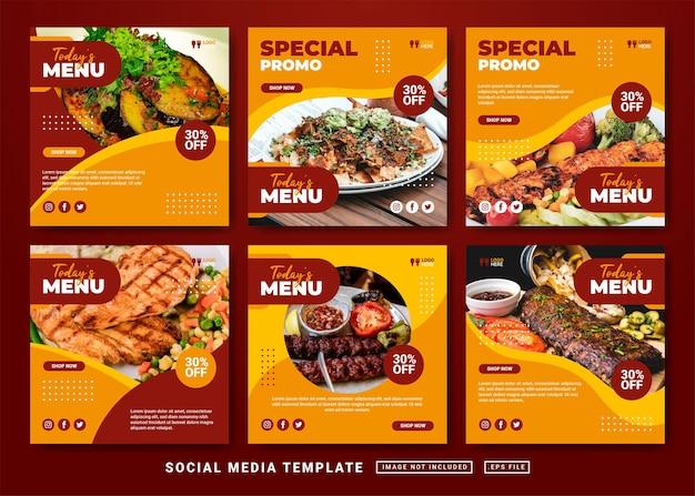 Flyer ou modèle de publication sur les réseaux sociaux. modèle de publication sur les réseaux sociaux du restaurant