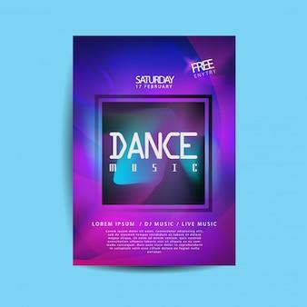 Flyer de musique électronique de danse