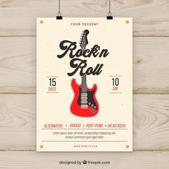 Flyer de musique rock n roll
