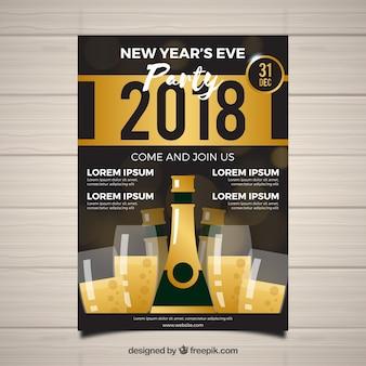 Flyer pour la fête à la veille du nouvel an